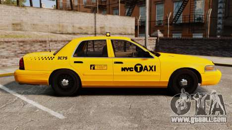 Ford Crown Victoria 1999 NYC Taxi for GTA 4 left view