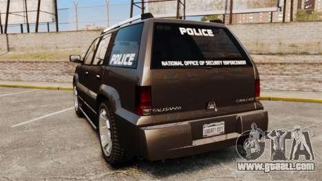 Cavalcade Police for GTA 4 back left view