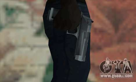 Desert Eagle Silver for GTA San Andreas third screenshot