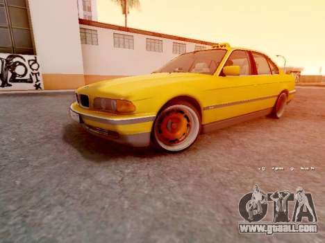 BMW 730i for GTA San Andreas left view
