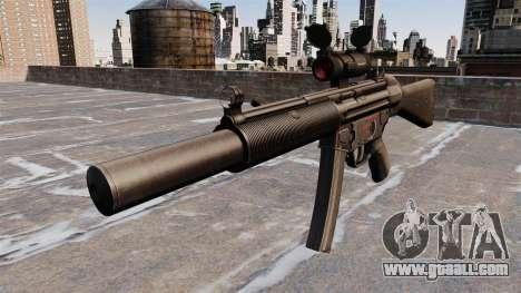 HK MP5SD2 submachine gun for GTA 4