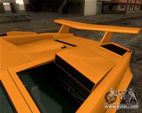 Lamborghini Countach LP500 Quattrovalvole 1988 for GTA San Andreas wheels