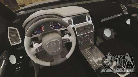 Audi Q7 Metropolitan Police [ELS] for GTA 4 inner view