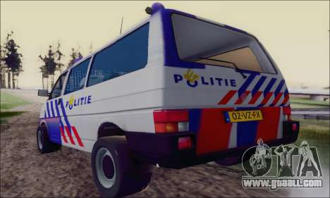 Volkswagen T4 Politie for GTA San Andreas right view