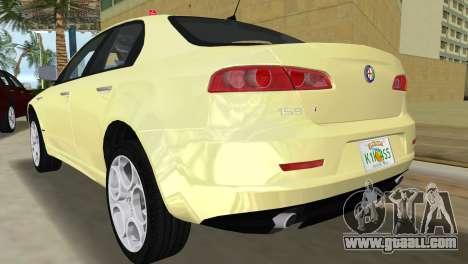 Alfa Romeo 159 ti for GTA Vice City back left view