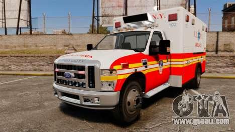 Ford F-350 FDNY Ambulance [ELS] for GTA 4