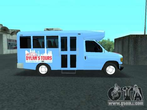 Ford Shuttle Bus for GTA San Andreas back view