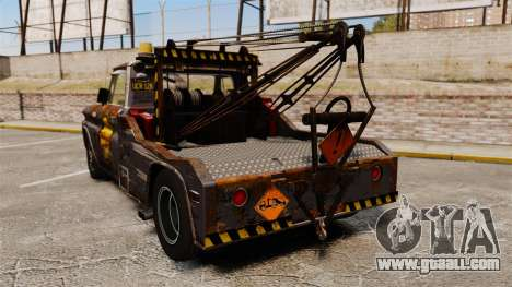 Chevrolet Tow truck rusty Stock for GTA 4 back left view
