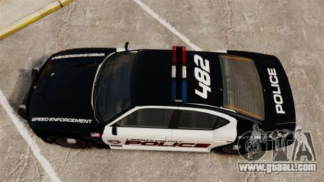 GTA V Bravado Buffalo Supercharged LCPD for GTA 4 right view