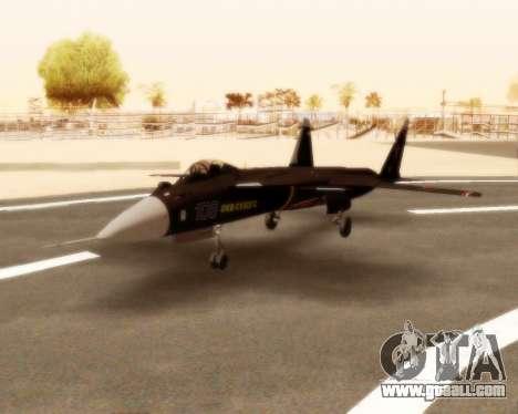 Su-47 Berkut v1.0 for GTA San Andreas left view