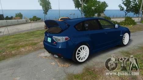 Subaru Impreza WRX STi 2010 for GTA 4 left view