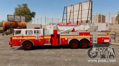 Seagrave Aerialscope Tower Ladder 2006 FDLC for GTA 4 left view
