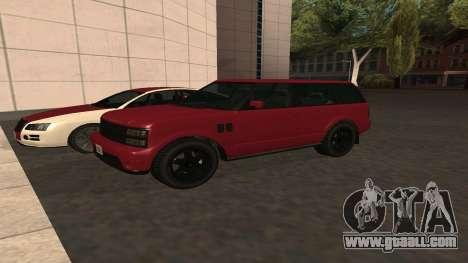Baller GTA 5 for GTA San Andreas inner view