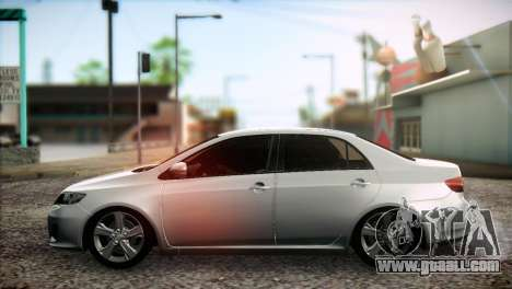Toyota Corolla 2012 for GTA San Andreas back left view