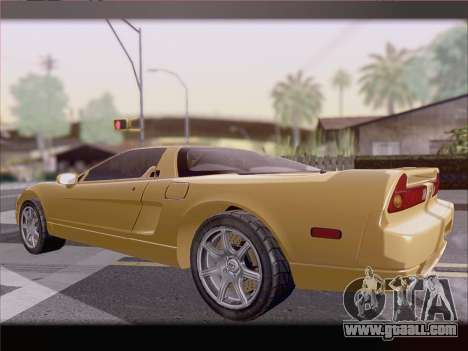 Acura NSX for GTA San Andreas bottom view