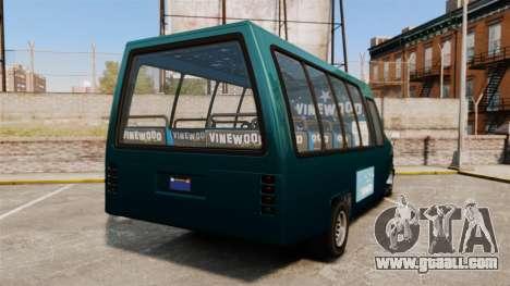 GTA V Brute Tour Bus for GTA 4 back left view