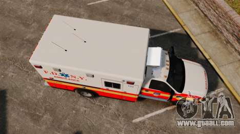 Ford F-350 FDNY Ambulance [ELS] for GTA 4 right view
