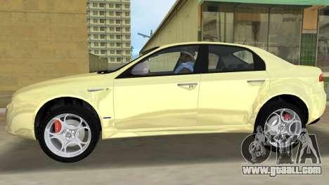 Alfa Romeo 159 ti for GTA Vice City left view