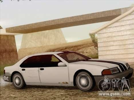 Fortune Sedan for GTA San Andreas back view