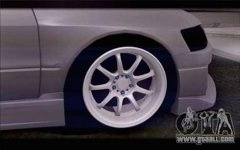Mitsubishi Lancer Evolution Stance for GTA San Andreas back left view