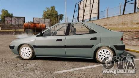 Citroen Xantia 1999 for GTA 4 left view