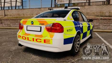 BMW 330i Hampshire Police [ELS] for GTA 4 back left view