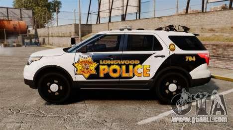 Ford Explorer 2013 Longwood Police [ELS] for GTA 4 left view