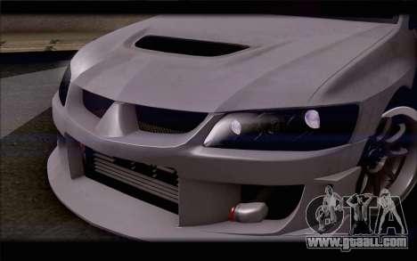 Mitsubishi Lancer Evolution Stance for GTA San Andreas inner view