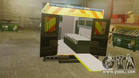 Mercedes-Benz Sprinter [ELS] London Ambulance for GTA 4 inner view