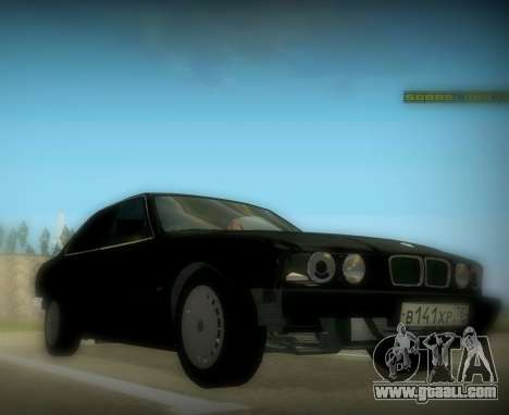 BMW 525 E34 for GTA San Andreas back left view