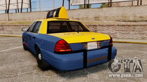 Ford Crown Victoria 1999 GTA V Taxi for GTA 4 back left view