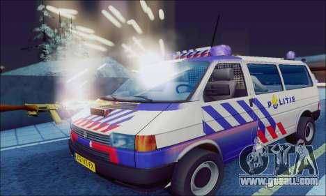 Volkswagen T4 Politie for GTA San Andreas left view