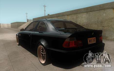 BMW M3 e46 Duocolor Edit for GTA San Andreas right view