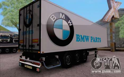 Trailer Pack for GTA San Andreas back left view