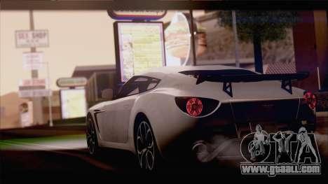 Aston Martin V12 Zagato 2012 [IVF] for GTA San Andreas back left view