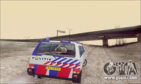 Volkswagen T4 Politie for GTA San Andreas upper view