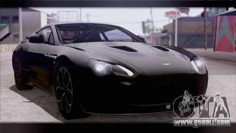 Aston Martin V12 Zagato 2012 [IVF] for GTA San Andreas
