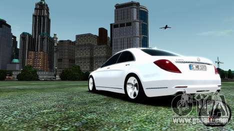 Mercedes-Benz S-Class W222 2014 for GTA 4 inner view