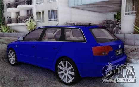 Audi A4 2005 Avant 3.2 Quattro Open Sky for GTA San Andreas left view