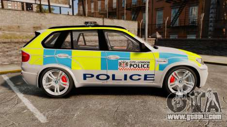 BMW X5 Police [ELS] for GTA 4 left view