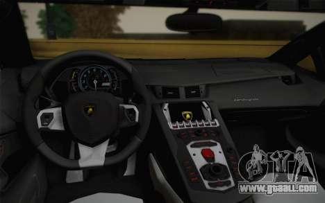 Lamborghini Aventador LP 700-4 Camouflage for GTA San Andreas inner view