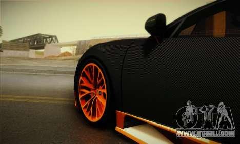 Bugatti Veyron Super Sport World Record Edition for GTA San Andreas back view