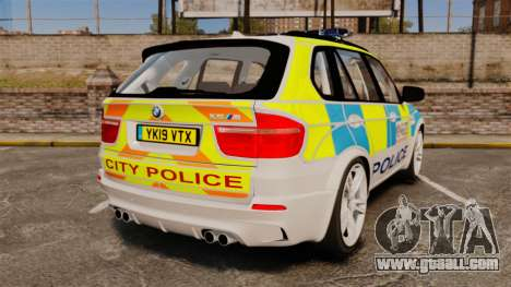 BMW X5 City Of London Police [ELS] for GTA 4 back left view