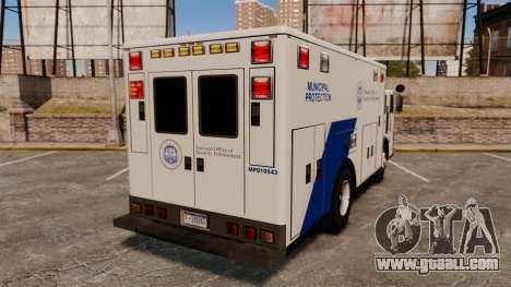 Hazmat Truck NOOSE [ELS] for GTA 4 back left view