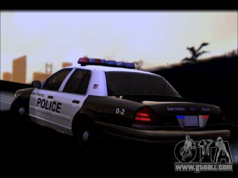 Ford Crown Victoria 2005 Police for GTA San Andreas upper view