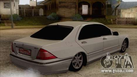 Mercedes-Benz W220 S500 4matic for GTA San Andreas left view