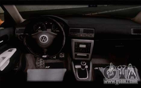 Volkswagen Golf IV for GTA San Andreas back left view