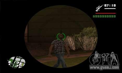 GTA V Sniper Scope for GTA San Andreas fifth screenshot