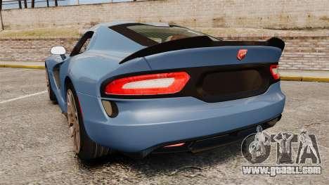 Dodge Viper SRT TA 2014 Rebuild for GTA 4 back left view