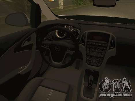 Opel Astra J 2011 for GTA San Andreas upper view